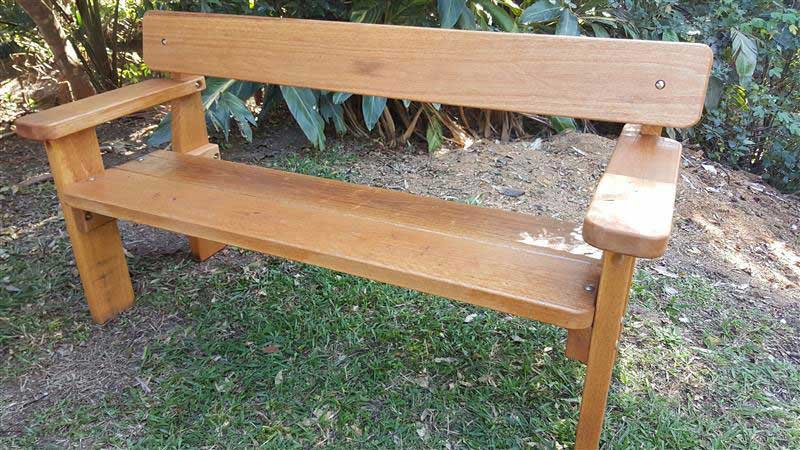 Wooden Bench seat with arm rests