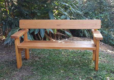 Wondrous Bench Seat With Arm Rests By Billabong Garden Furniture Ibusinesslaw Wood Chair Design Ideas Ibusinesslaworg