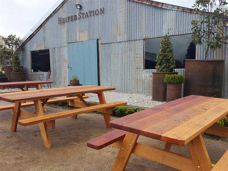 Outdoor Furniture at Heifer Station Wines, Orange NSW