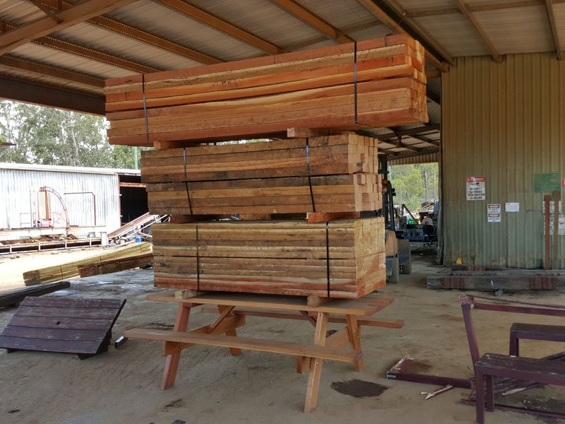 Picnic table with 3200kg on it, strength test
