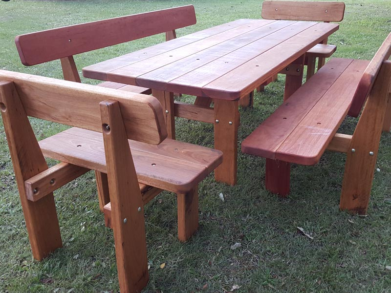 The swagman picnic table billabong outdoor furniture for Outdoor furniture darwin