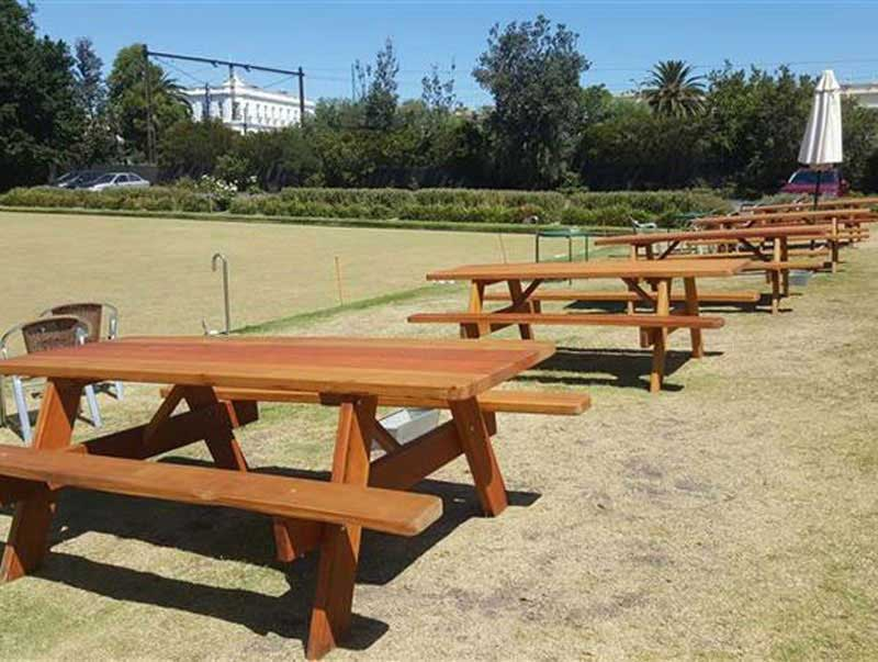 Outdoor furniture at Middle Park Bowling Club VIC