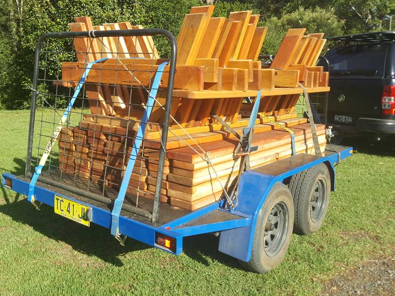 Three and a half ton trailer load with outdoor furniture