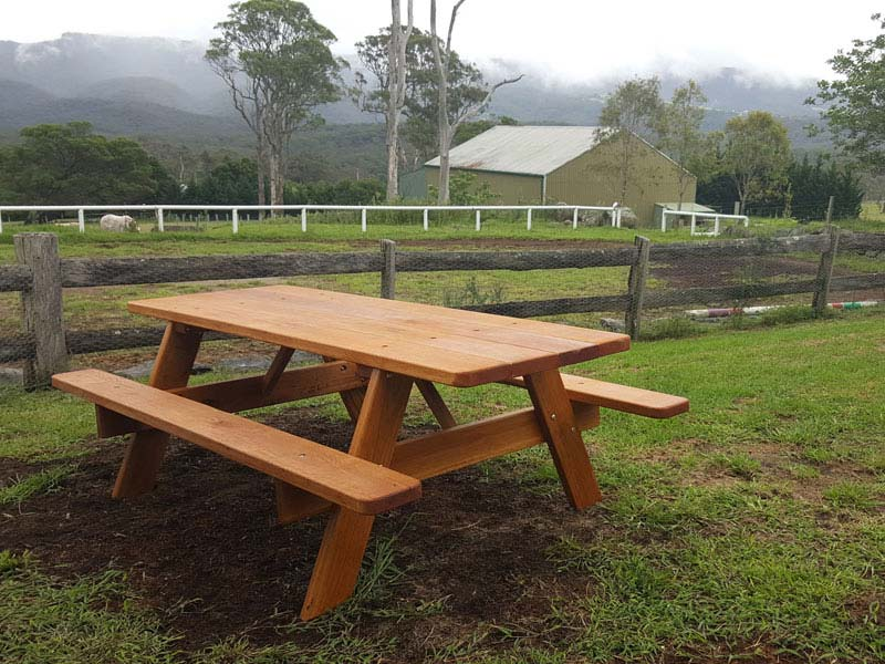 New picnic furniture in an old setting on NSW South Coast