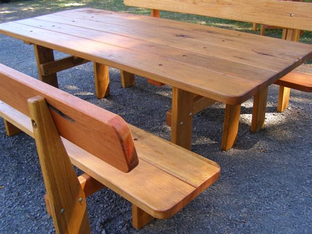 Coolabah three piece hardwood picnic setting