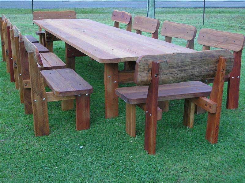 Huge 20 seater hardwood picnic table