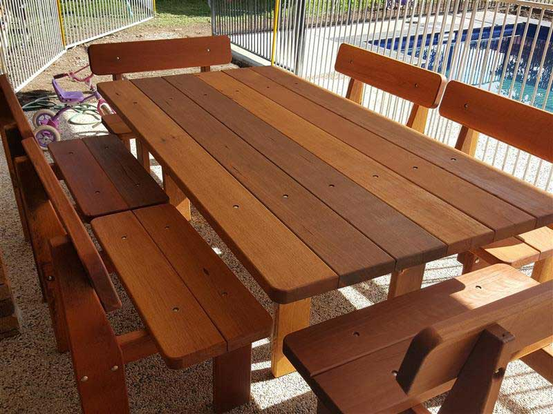 Beautiful 7 piece wooden picnic setting