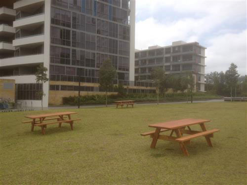 Commercial clients with picnic tables available for viewing for Outdoor furniture yatala