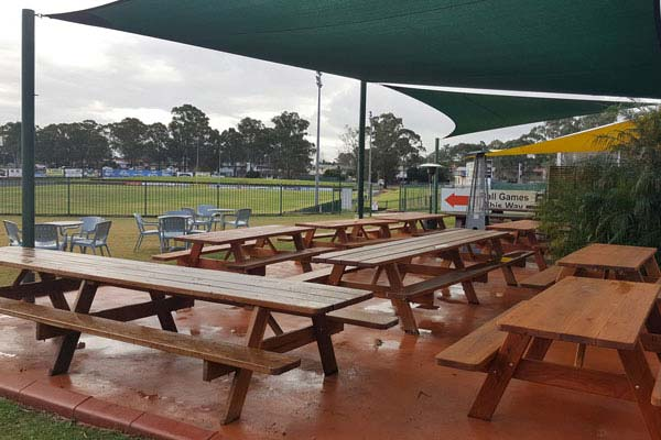 Outdoor furniture at Windsor Leagues Club